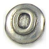 Wholesale Letter O Alphabet Disc Beads.