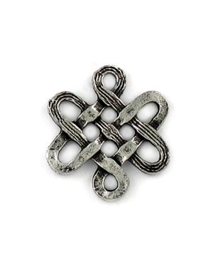 Chinese Knot (±15x17x1.75mm; - 2D)
