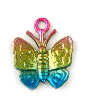 Wholesale Multi Color Enamel Butterfly Charm