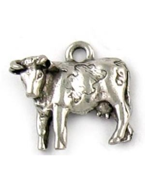 Wholesale Pewter Cow Charms.