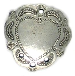 Heart Connector (±20x20x3mm; Hole -1.5mm-;1D)