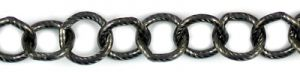 10mm Round Cable Chain - 50ft Spool; Gun Metal
