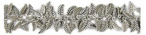 3.5x9mm Leaf Chain - 10ft Spool; Antique Silver