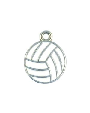 Wholesale Enameled Volleyball Charms