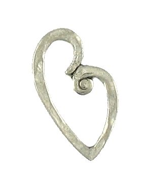Wholesale Hammered Floating Heart Pendants.