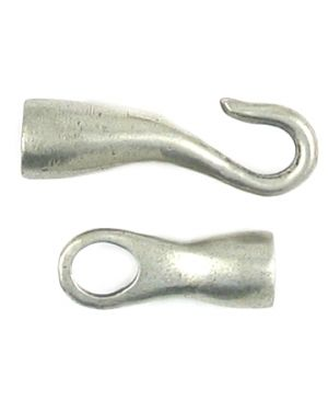 Hook and Eye Clasp (44x8x7mm; -5-; 3D)