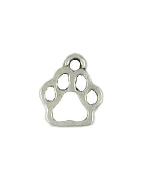 Wholesale Paw Outline Charms.