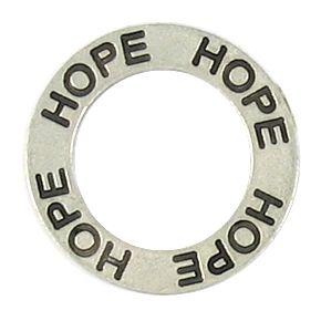 Hope Affirmation Ring (21x21x2mm; 2D)