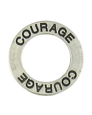 Courage Affirmation Ring (21x21x2mm; 2D)