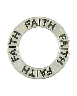 Faith Affirmation Ring (21x21x2mm; 2D)