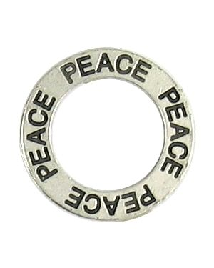 Peace Affirmation Ring (21x21x2mm; 2D)