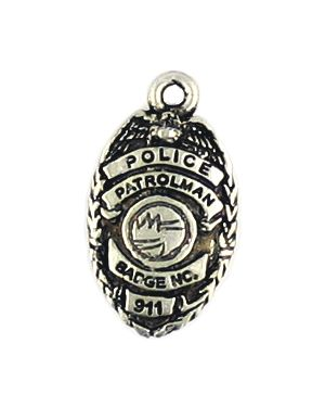 Police Badge (12x22x3mm; - 1D)