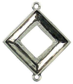 20mm Square - 2 Corner Loops (±38x31x4mm; -1mm-;3D)