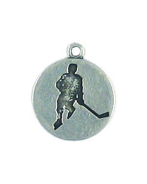 Wholesale Hockey Player Silhouette Charm