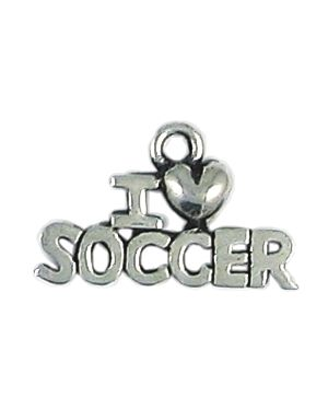 Wholesale I Heart Soccer Charms