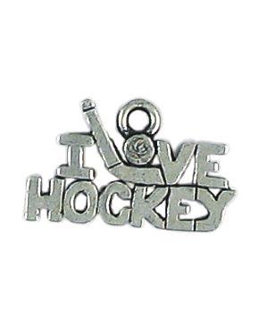 Wholesale I Love Hockey Charms