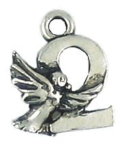 Wholesale 12 Days of Christmas, Turtle Dove Charms.