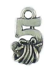 Wholesale 12 Days of Christmas 5-Golden Rings Charms.