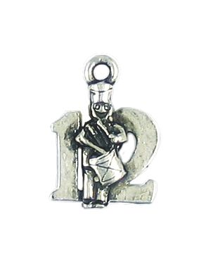 Wholesale 12 Days of Christmas, 12- Drummers Drumming Charms.