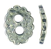 Hammered Button Disc With Two Holes (±2x9x12mm; -2.5mm-;3D)