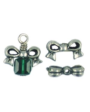 Bow Bead Fits 6mm Bead (±7x13x4mm; -1.5mm-;3D)
