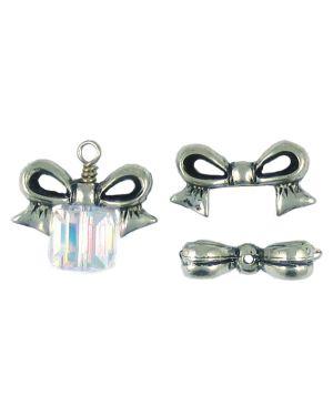 Bow Bead Fits 10mm Bead (±12x23x12mm; -1.5mm-;3D)