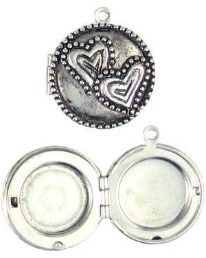 Heart Locket (Min. 5) (±8x23x21mm; -1.5mm-;3D)