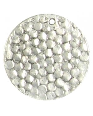 Wholesale Hammered Round Disc Pendants.