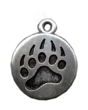 Wholesale Bear Paw Disc Pendants