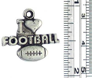 Wholesale I Heart Football Charm