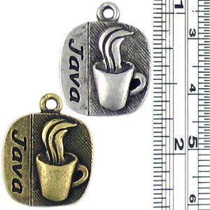 Java Coffee Charm (±3x20x16mm; -2mm-;1D)