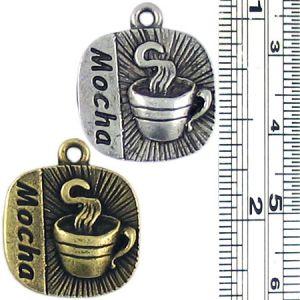 Mocha Coffee Charm (±3x20x17mm; -2mm-;1D)