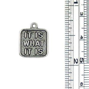 It Is What It Is Charm (±2x15x13mm; -1.5mm-;1D)