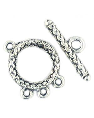 Front Toggle Weaved (±18x24x26x8x3mm; -3mm-;3D)
