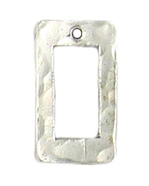 Wholesale Rectangle Hammered Connector Pendants.