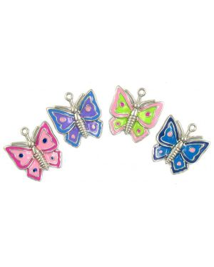 Large Assorted Epoxy Enamel Butterflys (±24x26x4mm; -1.5mm-;1D)