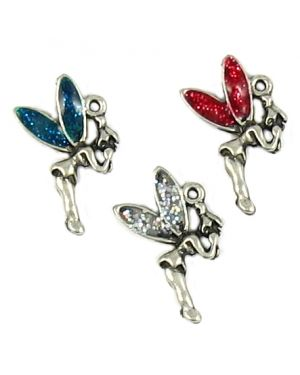 Wholesale Fairy Charms Colored Enamel Wings