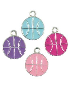 Wholesale Enameled Basketball Charms