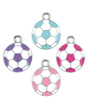 Wholesale Assorted Colors Enameled Soccer Ball Pendants