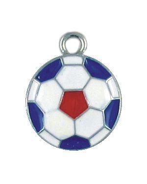 Wholesale Enameled USA Soccer Ball Pendants