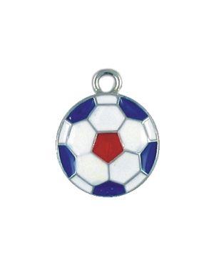 Wholesale Enameled USA Soccer Ball Charms