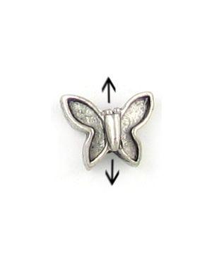 Butterfly Bead (±11x9x5mm; -2mm-;3D)