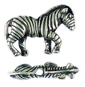 Zebra Bead (±13x20x4mm; -1.5mm-;3D)