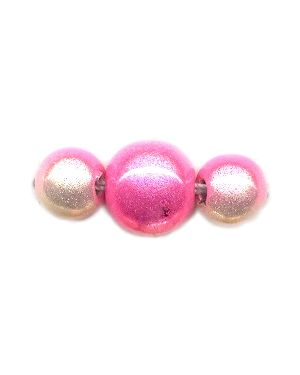 Wholesale Two Tone Pink and White Japanese Miracle Beads