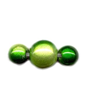 Wholesale Two Tone Green Japanese Miracle Beads Strand