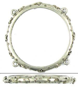 Napkin Ring With Stars (45x45x4mm; 3D)