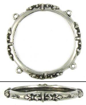 Fleur de Lis Ring ( 45x45x3mm; 3D)