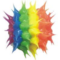 Wholesale spiky rainbow rubber beads