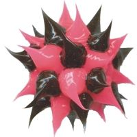 Wholesale spiky Pink and Black rubber beads