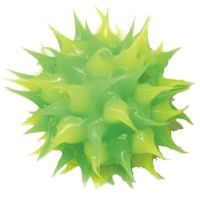 Wholesale spiky green and yellow rubber beads